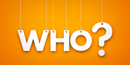 who: Who - word hanging on the string