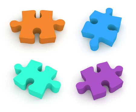plat: Jigsaw puzzle. 4 in 1 set