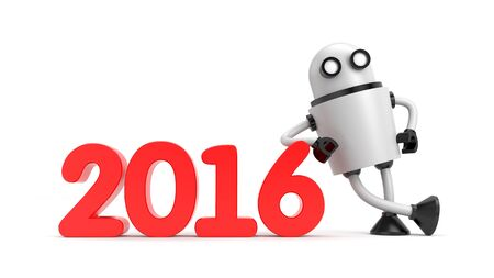 lean machine: Robot with New Year 2016