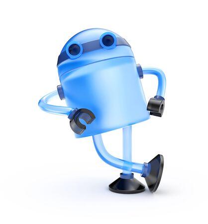lean machine: Blue Robot