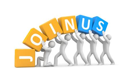 join: Teamwork concept Stock Photo