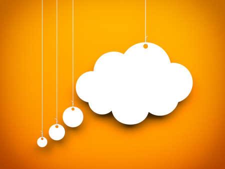 strings: Speech bubble. Conceptual 3d image Stock Photo
