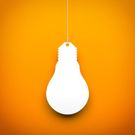 conceptual bulb: Light bulb hanging on the rope. Conceptual 3d image