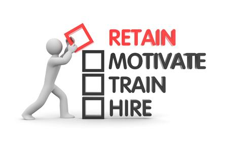 Wege zu motivieren und zu halten Mitarbeiter Standard-Bild - 52728438
