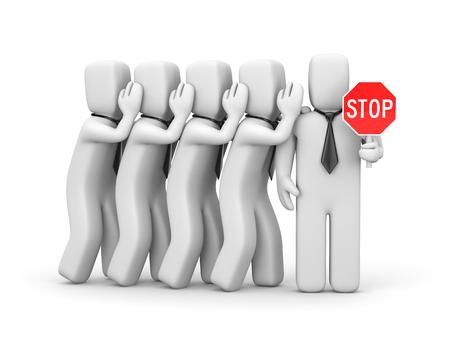 tempter: Stop the gossip. Business metaphor