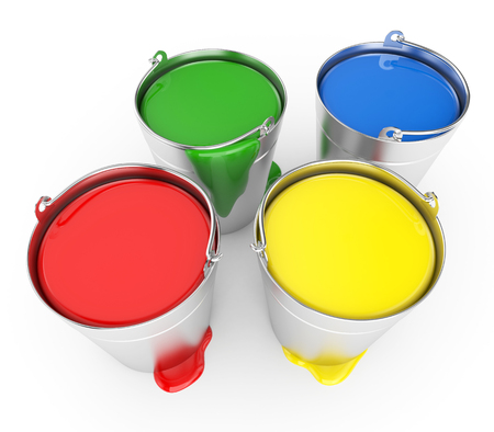 gallon: Buckets with a paint