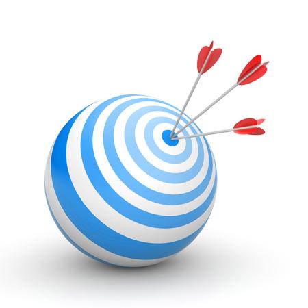 3d ball: success concept