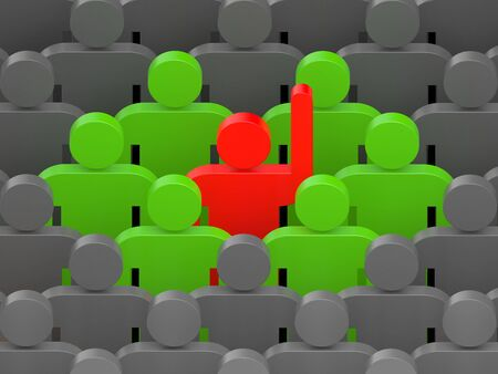 conceptual: Leadership concept. Conceptual 3d image