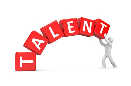 headhunter: Build your own talents - metaphor Stock Photo