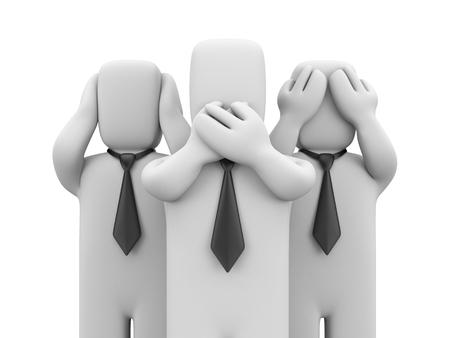 see: See no evil, hear no evil, speak no evil - business metaphor