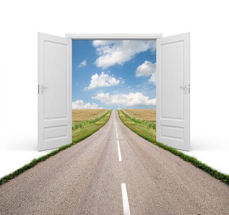 empty keyhole: Open the door to a new reality - conceptual image