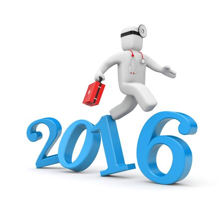 new medicine: Doctor run to new year. Reform of Medicine in USA