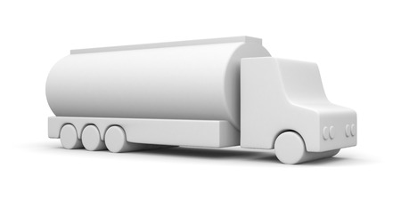 fuel truck: Fuel Truck on white background