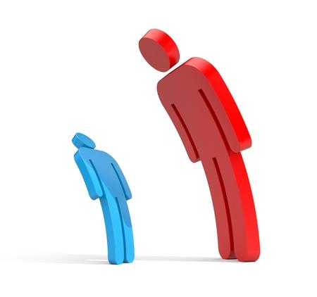 business metaphor: Boss and subordinate - business metaphor