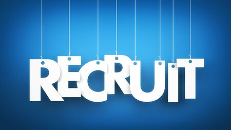 recruit: Recruit - word hanging on the ropes