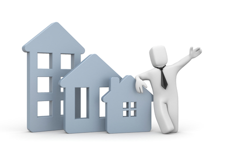 real estate agency: Real estate agency - business illustration
