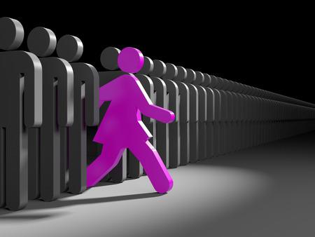 Kobieta prowadzony na nowe możliwości