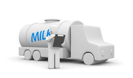 business metaphor: Milk delivery truck. Business metaphor