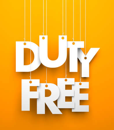 tax tips: Duty Free. Text on the string. Conceptual image Stock Photo