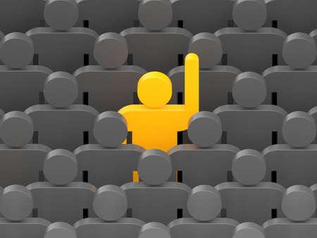 individual: Leadership concept. Conceptual 3d image