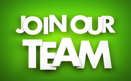 recruit help: Join our team. Business metaphor