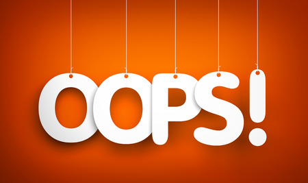 oops: Oops! Word hanging on the ropes