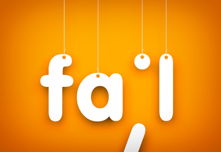 unaccepted: Fail - word hanging on the ropes Stock Photo