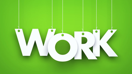 business work: Work - 3d illustration for business