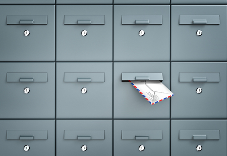 mailbox: Mailboxes. In one of the mailbox received a letter