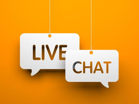 chat: Live chat - symbols hanging on the strings