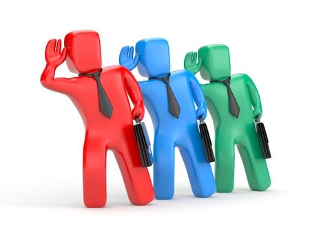 eavesdropping: Businessmen eavesdropping. 3d illustration Stock Photo