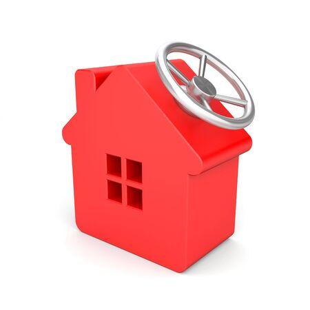 safe house: Safe house. Business 3D metaphor