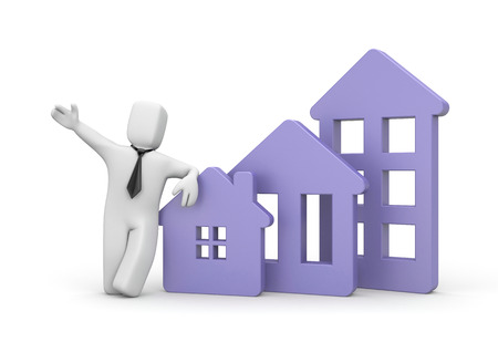 real estate agency: Real estate agency - business illustration. 3d illustration Stock Photo