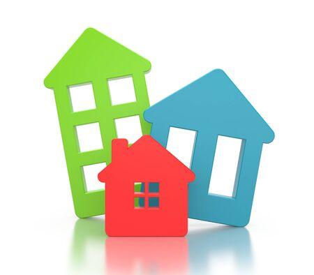 real estate agency: Real estate agency. 3d illustration