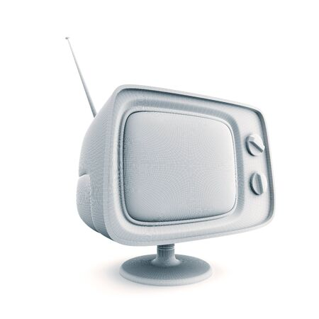 switcher: Retro Tv. Schematic view. 3d illustration Stock Photo