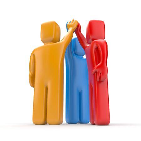 business metaphor: Agreement. Business metaphor. 3d illustration Stock Photo