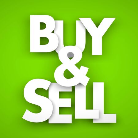business metaphor: Buy and sell. Business metaphor - 3D illustration