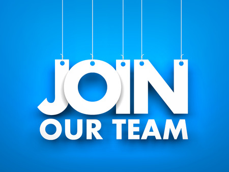 join our team: Join our team. 3d illustration