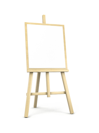 easel: Easel on white with shadow. 3d illustration Stock Photo