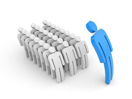 boss: Strict boss and employee subordinates. 3d illustration