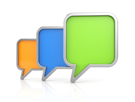 icon 3d: Speech bubbles icon. 3d illustration Stock Photo