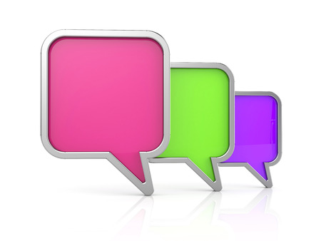 Speech bubbles icon. 3d illustration Stock Photo