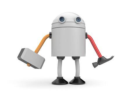 droid: Multifunctional robot. 3d illustration