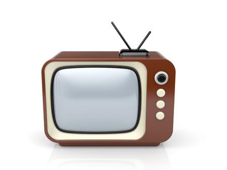 retro tv: Retro TV. 3d illustration Stock Photo