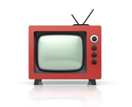 retro tv: Red retro TV. 3d illustration