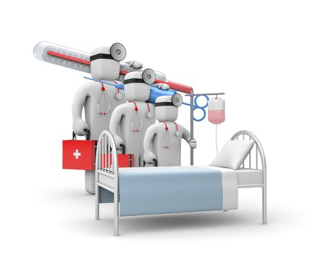 Medical team. 3d illustration Stock Photo