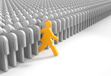 woman run: Woman run to new opportunities. 3d illustration
