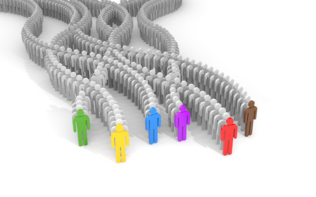 Different people - leaders. 3d illustration Stock Photo