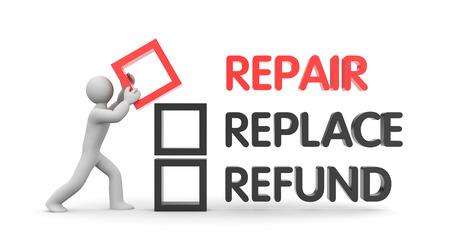 reimbursement: Refund and Finance. Business metaphor. 3d illustration