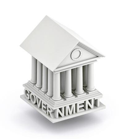 政府のアイコン。政府の建物の 3d アイコン。3 d イラストレーション